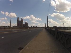 Check out the views of the James River and Richmond industry on the second bridge