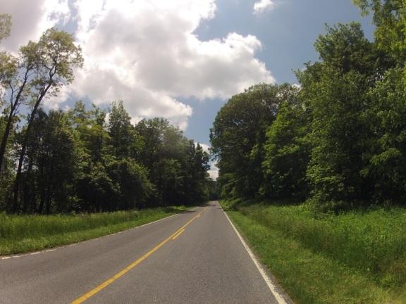 Open road on a long gradual uphill