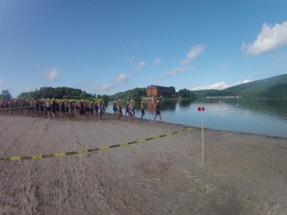 pre-swim corral