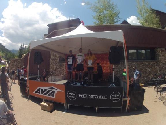 Men's overall amateur podium