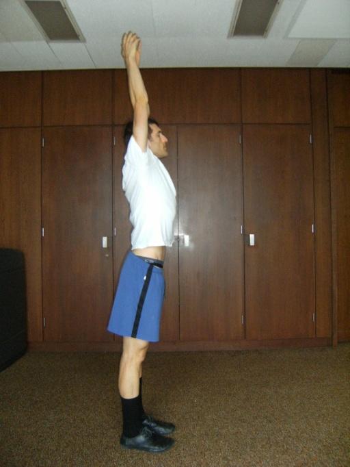 Alex beginning a yoga routine