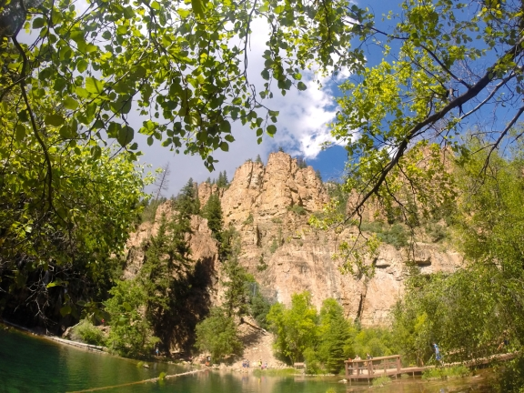 Another vantage point of the lake and canyon walls