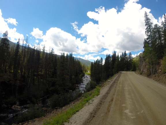A parallel stream enhances any trail run