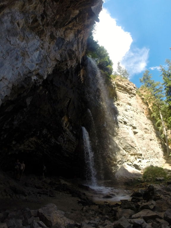 These magnificent waterfalls are just a quarter mile hike above Hanging Lake
