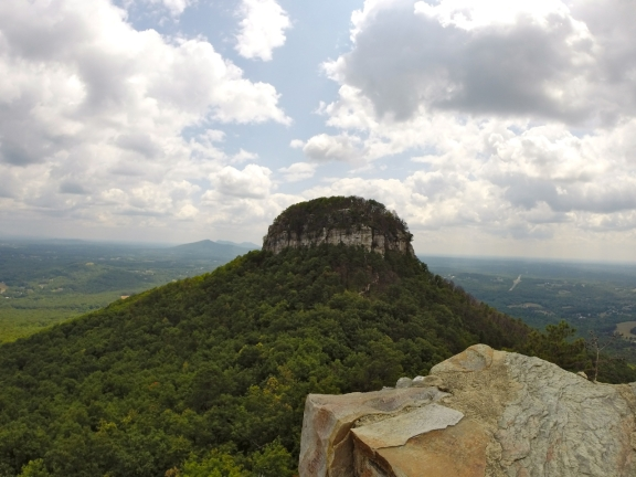 A view of the distinctive quartzite peak