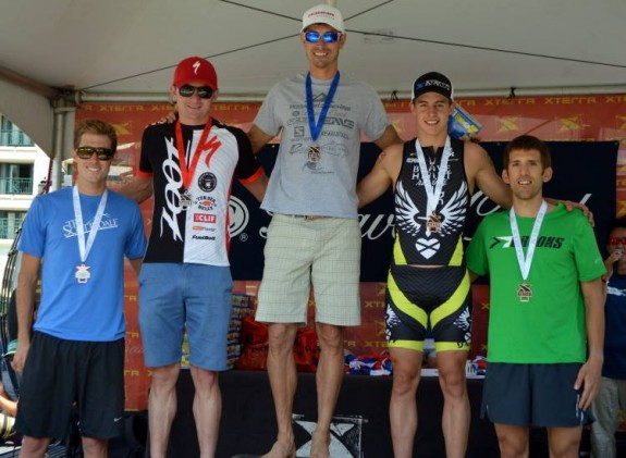 First time on the professional podium at the XTERRA Mountain Championships; elated with the performance