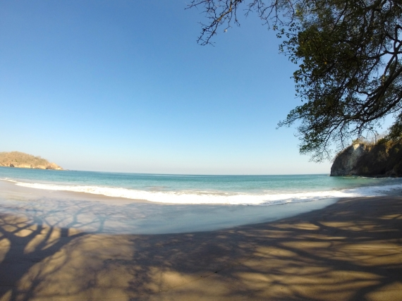 Serene beach at Playa Conchal Costa Rica.