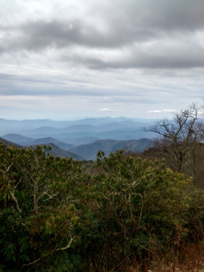 15 - the aptly named blue ridge mountains